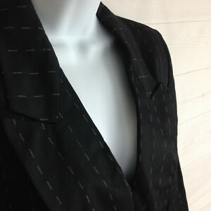 KASPER ASL womens size 6 dark blue/black collared lined business career blazer