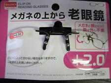 Daiso Japan Optical Clip-on Flip-up Magnifying Reading Glasses 12 G Only 2.00 Strength