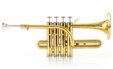 Piccolotrompete PT-196 Mundstück Koffer Piccolo Trompete Blechblasinstrument