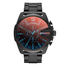 DIESEL Uhr DZ4318 MEGA CHIEF Herren Chronograph Edelstahl Schwarz Armbanduhr NEU