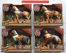 Blue Ribbon Champions Deluxe Horse Set 4 Lot  Palomino Morgan Appaloosa Quarter