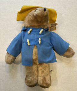 "RARE LARGE Vintage 1975 Paddington Bear 18"" Plush by Eden Toys Inc. Pre Owned"