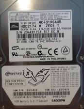 "Toshiba MK4019GAXB HDD2174 M ZE01 T 020 B0/FB002B 40gb 2.5"" IDE/ATA Laptop Drive"