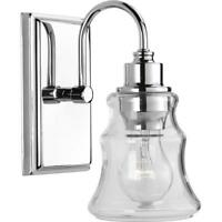 Progress Lighting Litchfield Collection 1-Light Polished Chrome Bath Light