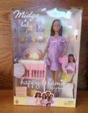 NIB Ethnic Barbie Pregnant Midge & baby It's a Girl  Happy Family Neighborhood