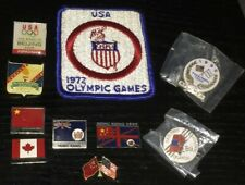 (10) vintage OLYMPIC PIN AND PATCH LOT ~ 1972 munich 1989 1996 1997 2008 beijing