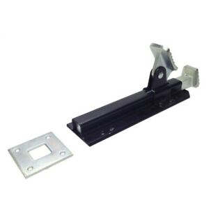 NEW! Foot Bolt & Lock Black Perfect for Outdoor Large Gates & Doors NEW!