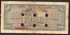 Greece. 1000 Drachmai 15/10/1926, L@K Canceled Greek Banknote En Samo [Z5]