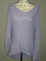 We the Free People   Purple Sweater Shirt Top Size Medium Womens