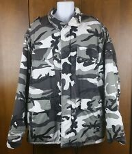 Counter Attack Urban Camo Snow Army Field Quilted Jacket Coat 3X