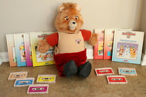 Vintage 1985 World of Wonder Talking Teddy Ruxpin Books with Cassette - LOT