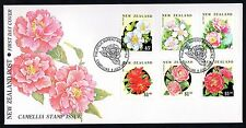 New Zealand 1992 FDC Camellias - Flowers Theme