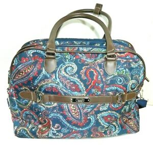 Chaps Ralph Lauren Paisley Luggage Bag Hand or Shoulder bag.