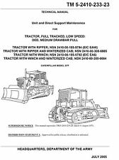 Dozer Caterpillar Model D7F Support Maintenance Manual