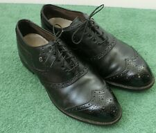 Men's 91/2 D M FootJoy Classics Style 51417 Black Wing Tip Golf Shoes