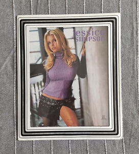 Jessica Simpson Irresistible 25x31 Promo Funky Poster 2001 Collectible Open Book