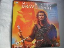BRAVEHEART widescreen NTSC 2 discs gatefold sleeve 1996 Mel Gibson