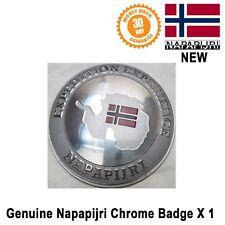 NAPAPIJRI Insignia logo emblema Accesorio Decoración de ropa Cromo Nuevo Original
