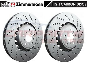 FOR BMW M5 M6 F10 F06 F12 F13 COMPETITION ZIMMERMANN FRONT DRILLED BRAKE DISCS