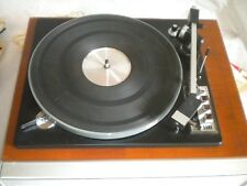 Vintage record deck turntable ELAC Mirrcord 50H 1960s Hi-FI with spindles