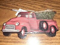 4 Country Christmas Tree Home Holiday Red Truck Placemats Reversible Chevy Ford