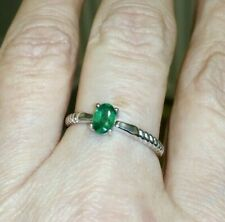 100% GENUINE 0.40ct Bahia Emerald Sterling Silver Ring WOW ~