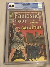 Fantastic Four #48 CGC VF 8.0 White Pages 1st Galactus Silver Surfer!