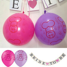 10 Bachelorette Balloons + 1 Bride To Be Banner Bunting Hen Party Decoration·1X