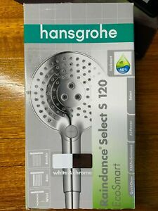 Hansgrohe Ecosmar Raindance Select S 120 3jet hand shower white/chrome 26531400