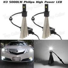 5000LM H3 Philips Xenon 6500K Fog Light Conversion Kit LED Replaces Halogen&HID