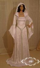 Vestido de boda bosque de los Elfos Medieval vestido de blanco, Celta en Crushed Velvet.
