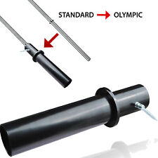 """Barbell Converter Standard To Olympic 1"""" to 2"""" Adjustable Width Dumbell EZ Curl"""