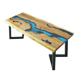 Premium Epoxy Resin Live Edge Dining & Coffee Handcrafted Table Top  Custom Made