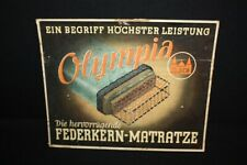 Olympia Federkern-Matratze Advertisement Sign Pappaufsteller 34,5 x 43,5 cm D