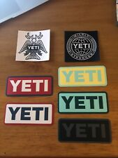 7 YETI Decals Vinyl StickersAuthentic for tumblers vehicles trucks NEW