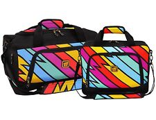 Loudmouth Captain Thunderbolt 2pc Carry-on Duffel Bag Boarding Tote Luggage Set