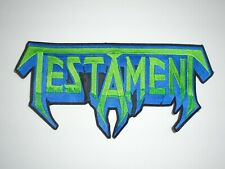 TESTAMENT THRASH METAL EMBROIDERED BACK PATCH