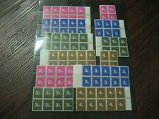 COLLECTION OF SCHOOL TRAINING STAMPS IN BLOCKS