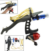 Fishing Slingshot Kit Catapult Bow Bowfishing Darts Reel Archery Hunting Set