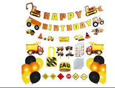 Construction Birthday Party Supplies,Birthday Decorations for Boys, 103 pack