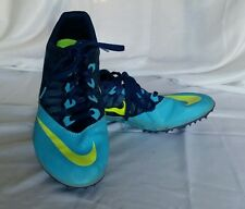 Nike Racing Cleats Men's Shoe Size US 11 Rival S Two Tone Blue w Neon Logo