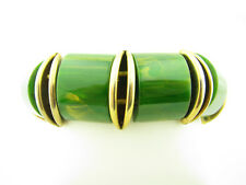 Vintage Marbled Green BAKELITE Stretch Bracelet