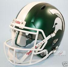 MICHIGAN STATE SPARTANS (SATIN GREEN) Riddell Full Size SPEED Replica Helmet