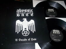 "Abyssic Hate ‎""A Decade Of Hate"" 2LP gatefold No Colours Records Germany 2006"