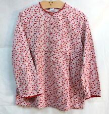 Chemise blouse à fleurettes rouges Petit Bateau 12 ans