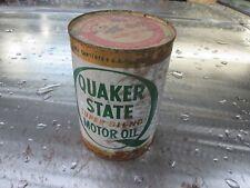 VINTAGE 1960-70S SEALED QUAKER STATE OIL CAN 20 W 30 Garage art hot rod chopper