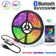 Bluetooth RGB dimmbar Stripe LED TV Band USB Streifen Smart Home APP Lichtleiste