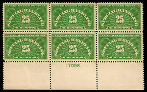 US #QE4 1925 25c Special Handling PB6 MNH F-VF (CV $525)