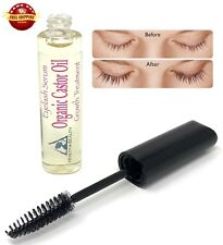 CASTOR OIL ORGANIC GROWS EYELASH SERUM HEXANE FREE BROW TREATMENT MASCARA TUBE