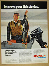 1978 Honda 100 9.9 HP Outboard Motor color photo vintage print Ad